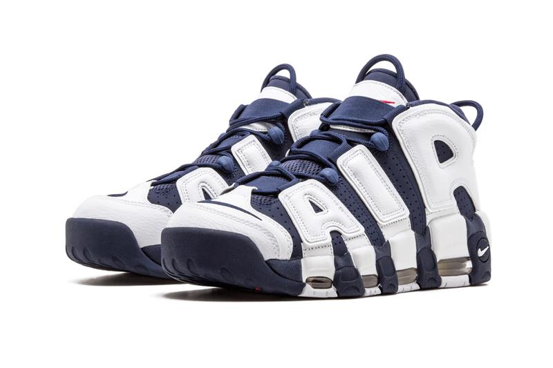 nike air more uptempo olympic scottie pippen white midnight navy metallic gold university red usa basketball 414962 104 release date info photos price