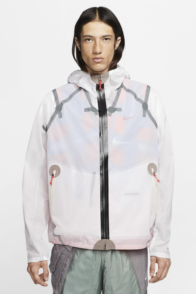 nike ispa inflate jacket white black blue orange release date info photos price