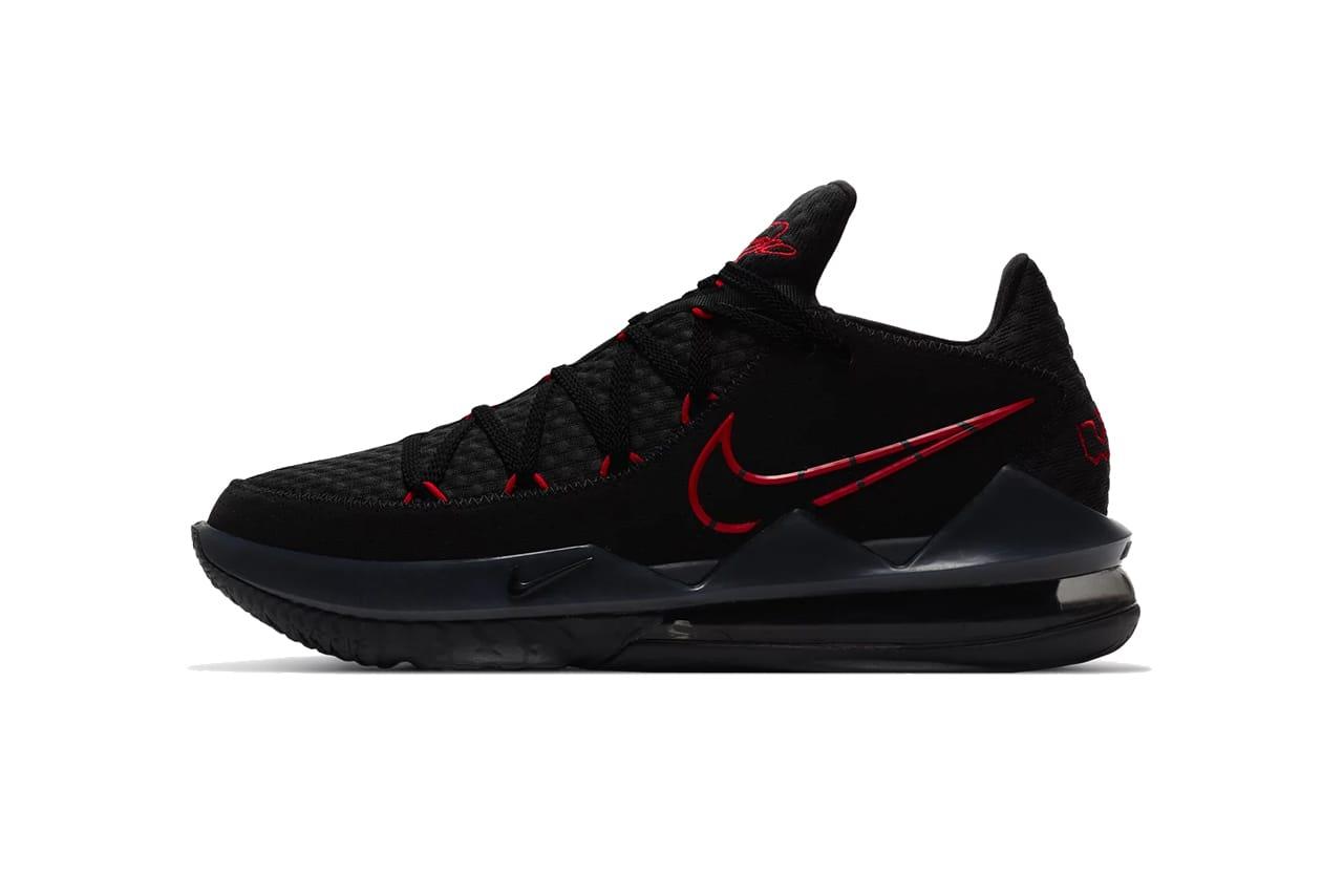 Nike LeBron 17 Black/University Red