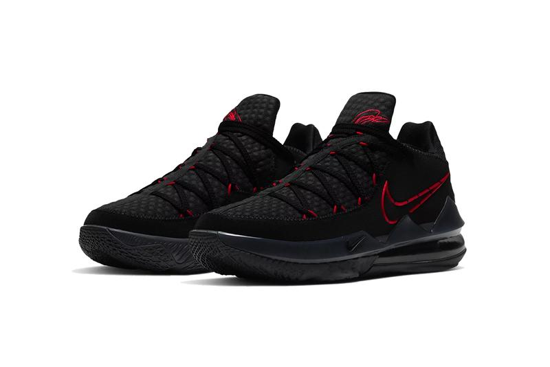 nike lebron james 17 low black university red Cd5007 001 release date info photos price