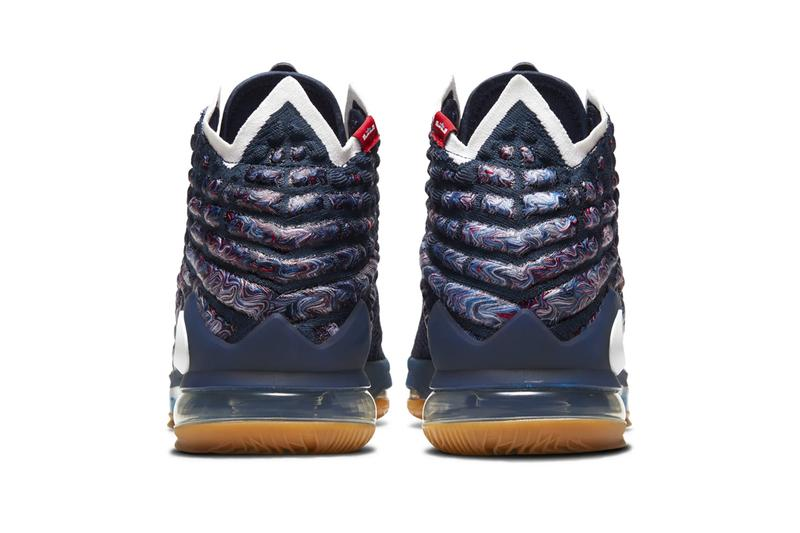Nike LeBron 17  RED/WHITE/BLUE Release Laker Olympics American USA LeBron James LBJ King James Basketball Sports