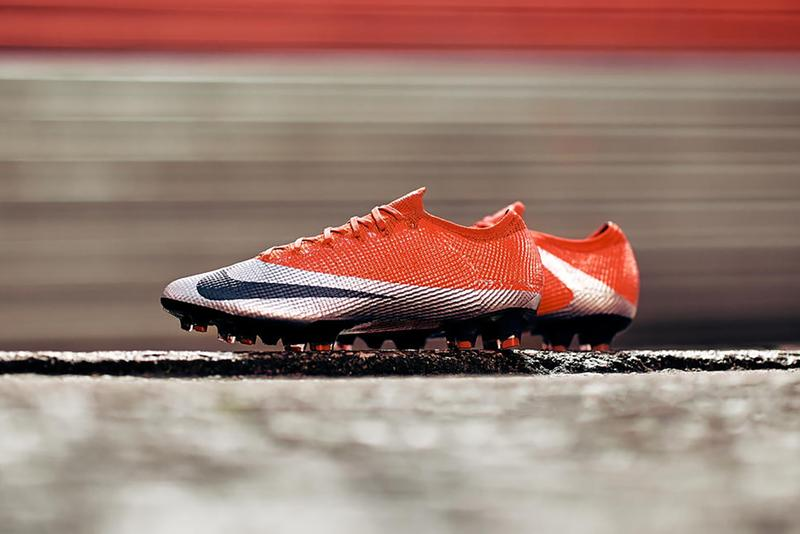 Nike Mercurial Vapor Future Ronaldo Exclusive Pays Tribute To Nike Football Soccer Cleat Footwear Release Date Orange Silver HYPEBEAST