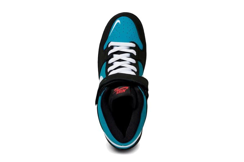 nike sb dunk mid pro black white freshwater blue aqua griffey release date info photos price CV5474 001