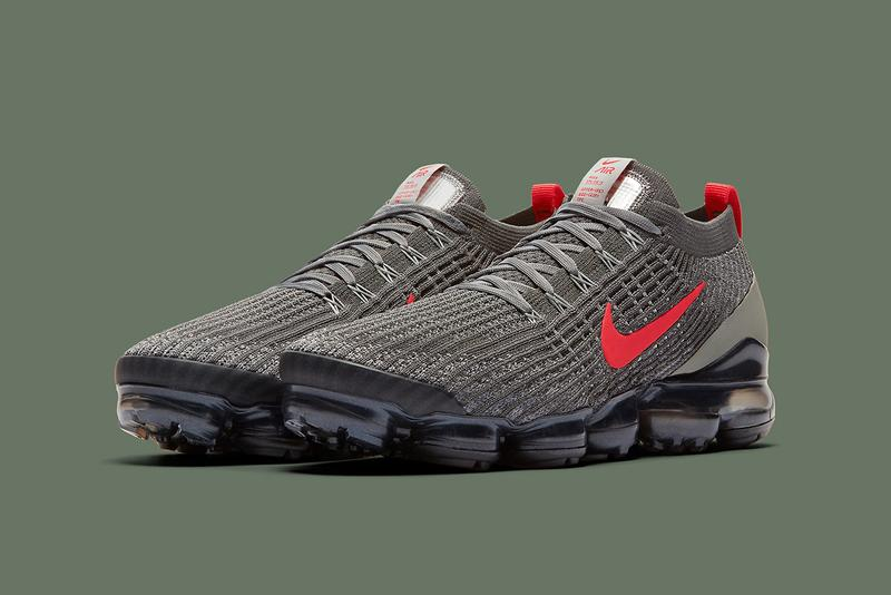 nike vapormax flyknit three olive crimson colorway footwear sneakers