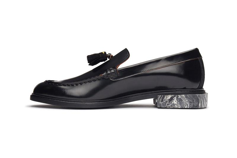 Off-White™ Tassel Loafer by Virgil Abloh Closer Look Release Information Footwear Drops Spring Summer 2020 SS20 Trends Menswear Cross Arrows Branding Marble Effect Heel Sartorial Formal Streetwear