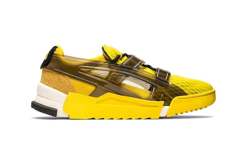 onitsuka tiger big logo runner sandal sneakers red vibrant yellow fiery red cream