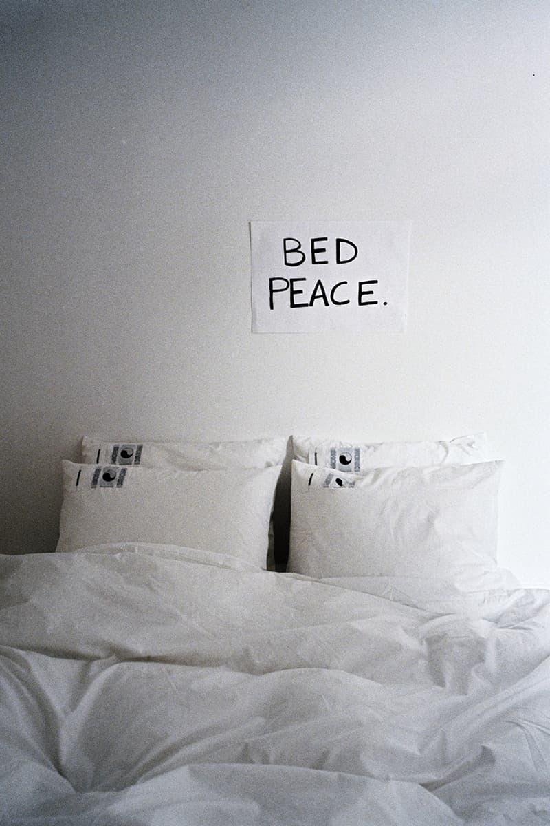 Our Legacy Work Shop Magniberg bed peace bedding upcycled shirt fabrics sustainability pyjamas long sleeve t-shirts tees buy cop purchase