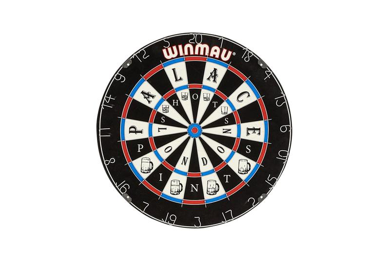 palace skateboards winmau dartboard video clip bobby george darts release date info photos price