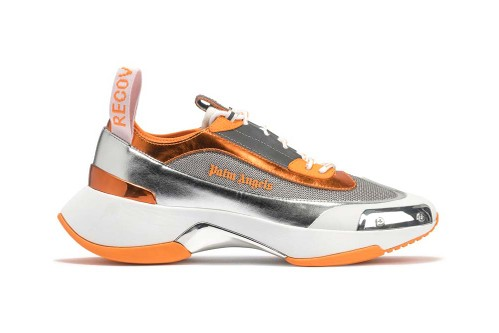 Palm Angels' Silver Recovery Sneakers Get Splashy Orange Pops