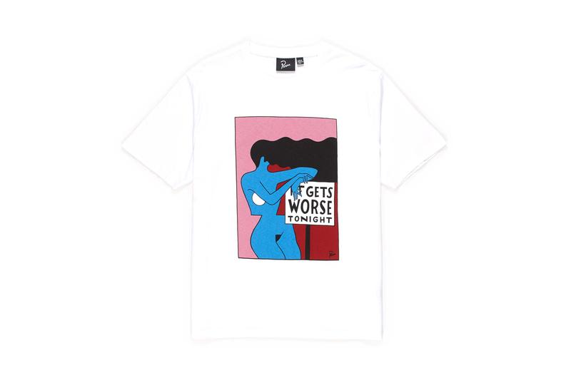 By Parra New Apparel & Accessories Drop Piet Parra T-Shirts Hoodies Swim Shorts Sleeping Bag Dog Face Bottle Opener Camouflage Bucket Hat Striped Button-Down Shirt