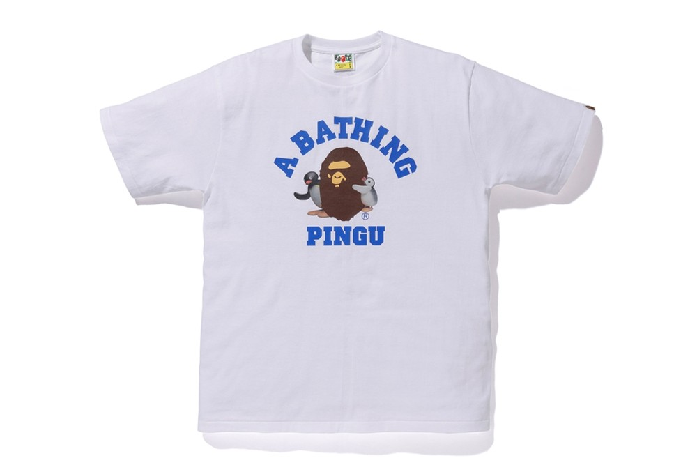 Pingu A BATHING APE Collection Release BAPE Baby Milo Hoodies Zip Up T-shirt kids