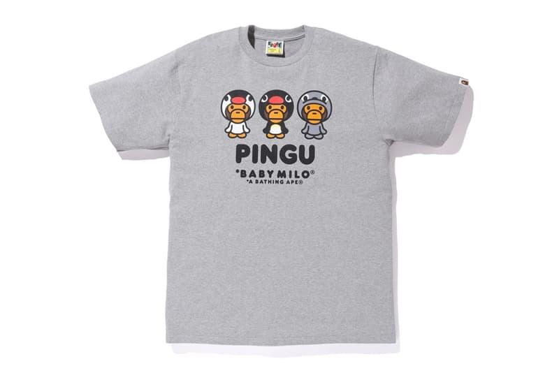 Pingu A BATHING APE Collection Release BAPE Baby Milo Hoodies Zip Up T-shirt kids