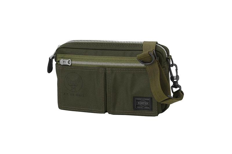 PORTER Military Grade Flying Ace Bag Capsule menswear streetwear carrying solutions mil spec functional olive japanese design shoulder pouch cross body satchel bum fanny release info price details
