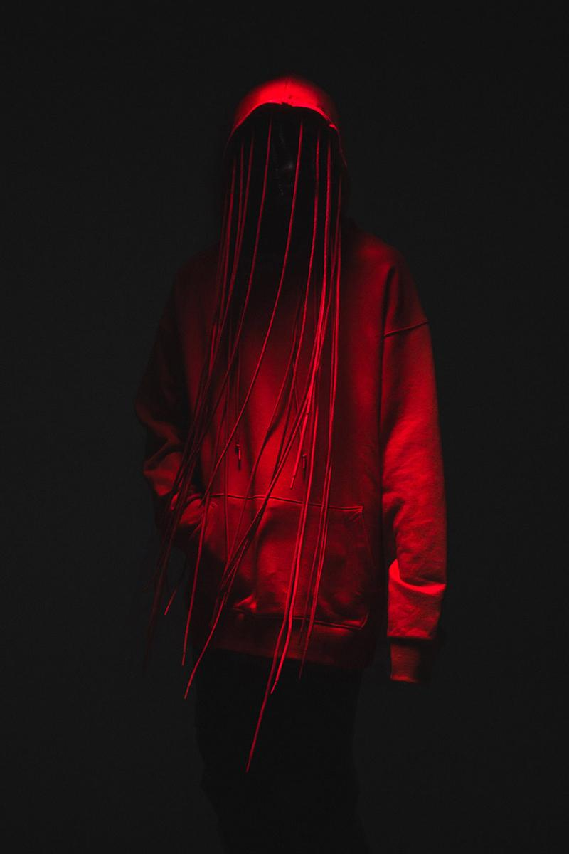 POST ARCHIVE FACTION 3.0 Hoodie Release Black Red Info Buy Price HBX LEFT