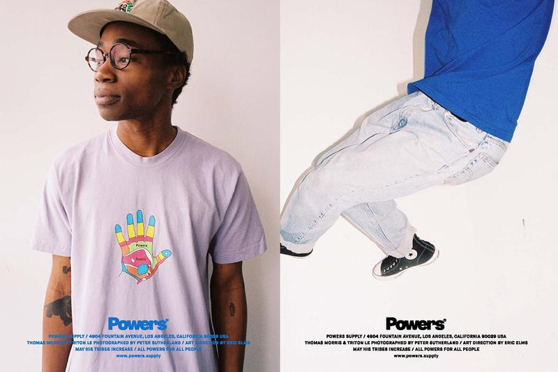 POWERS Spring 2020 lookbook Peter Sutherland supply kyle ng collection drops menswear streetwear t shirt hoodie sweaters hoodies hats caps graphics tote bags accessories