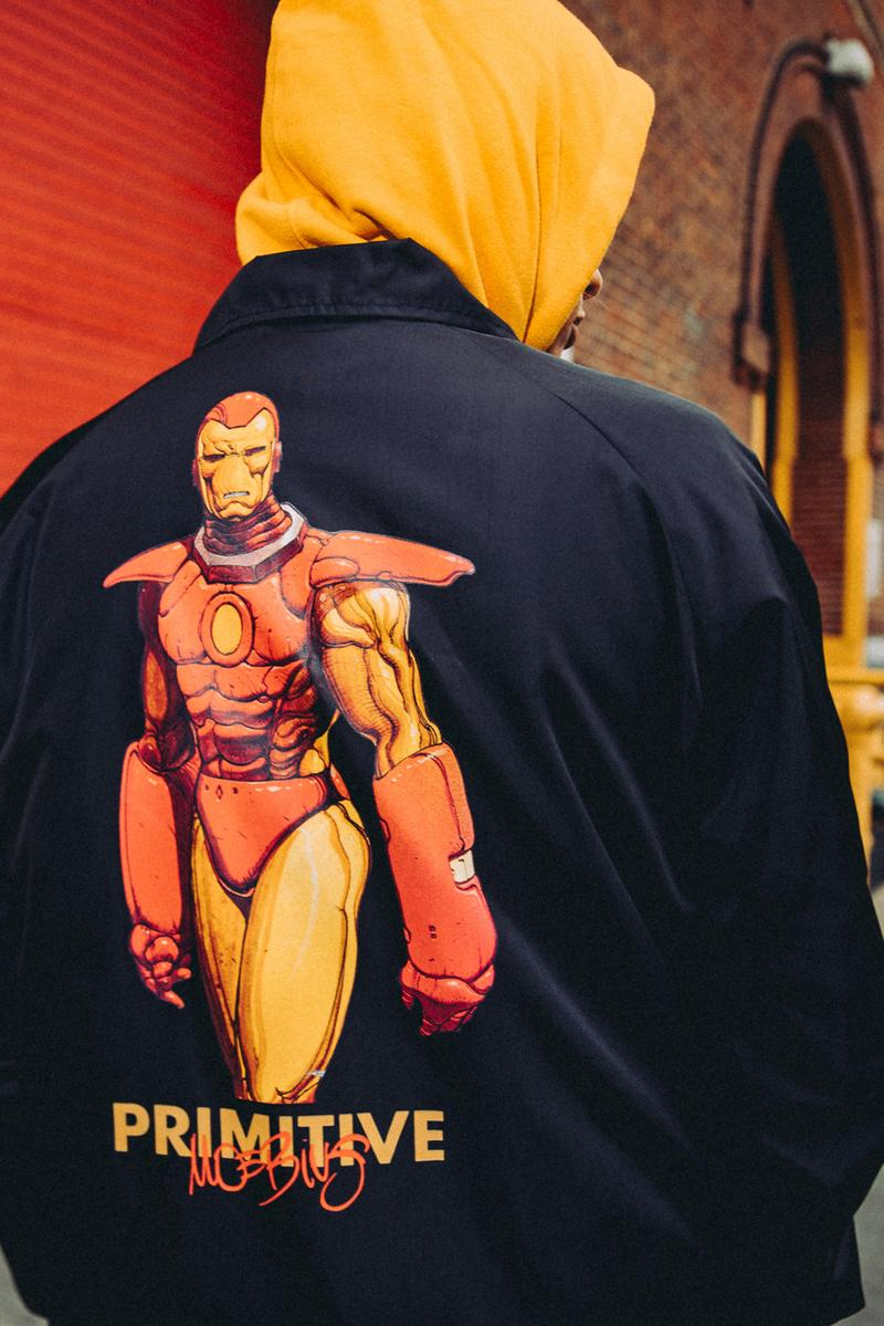 Primitive Skateboarding x Moebius, Marvel Comics spring summer 2020 ss20 collaboration artwork superheroes silver surfer iron man collection release date info buy march 27
