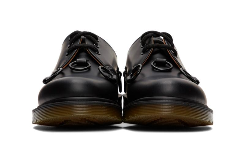 Raf Simons Dr Martens 1461 Derbys low cut dress shoes footwear kicks sartorial menswear spring summer 2020 collection designer airwair midsole technology ring punk black