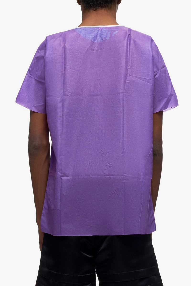 raf simons hand painted hospital shirt pink multi purple multi colorway release ss20 spring 2020