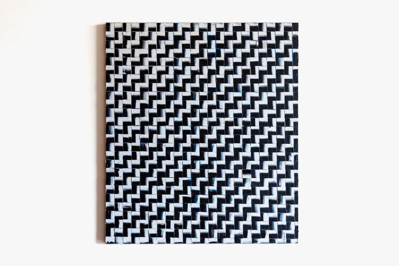 re—inc Art Auction Tobin Heath 'Pixelation' Painting BW Collection Layered Black White