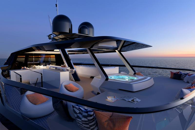 red yacht design dykstra naval architects superyacht boat yacht luxury sailing helipad swimming pool jacuzzi