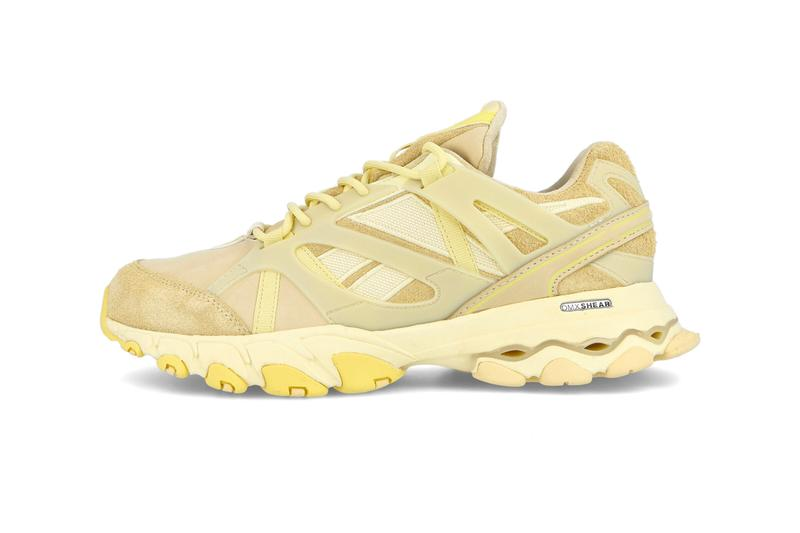Reebok DMX Trail Shadow Washed Yellow Filtered Yellow Classic Retro Low Top shoes sneakers menswear streetwear kicks sportswear trainers runners spring summer 2020 collection FV2846