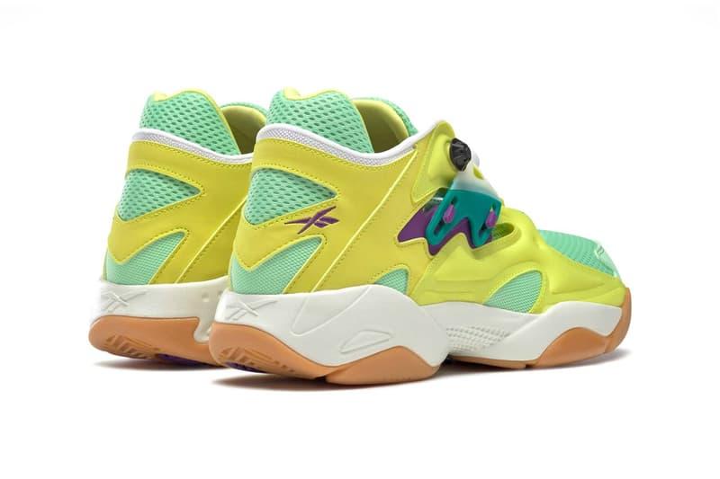 reebok pump court hero yellow seafoam green chalk sneakers