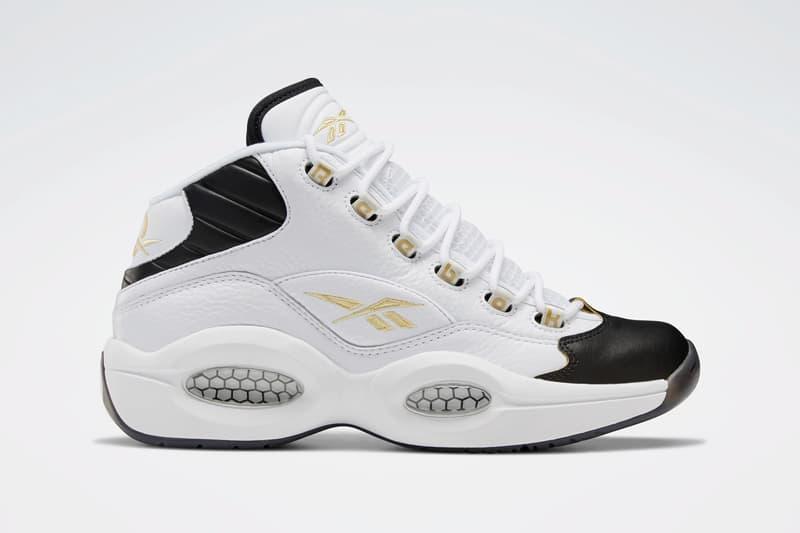 reebok question mid respect my shine allen iverson white gold metallic EF7599 release date info photos price