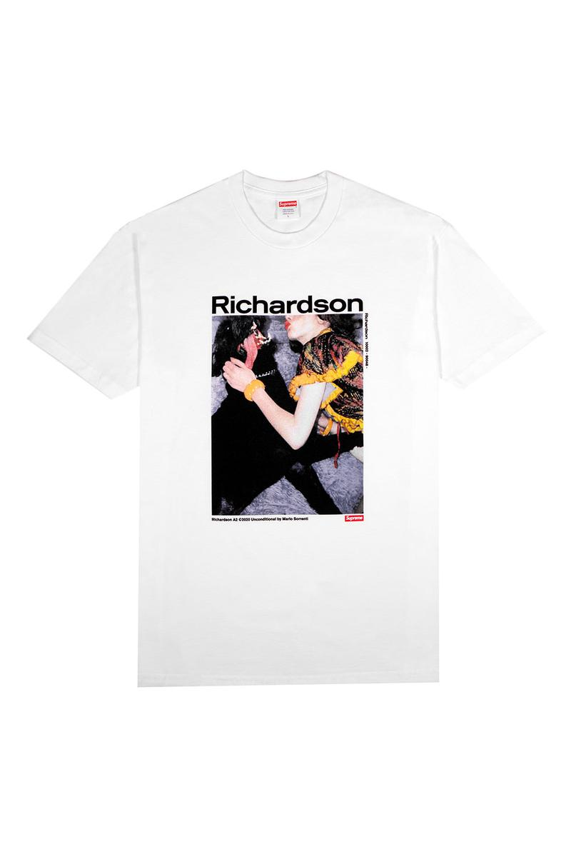 Richardson x Supreme Unconditional Collaborative Tshirt tee A2 Mario Sorrenti Tokyo Harajuku Japan flagship exclusive James Jebbia David Sims Larry Clark