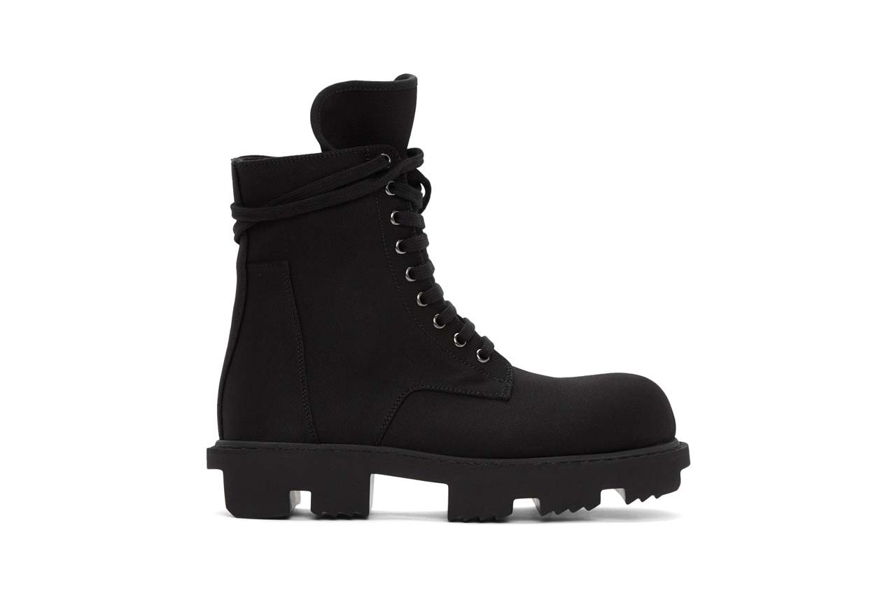 rick owens black lace up army megatooth boots bozo chelsea boots rick owens drkshdw zip boot