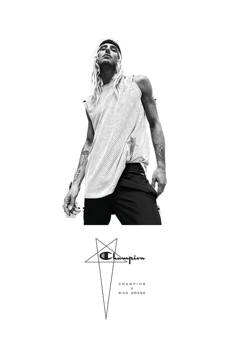 Rick Owens x Champion SS20 spring summer 2020 Collaboration Collection campaign looks release date buy