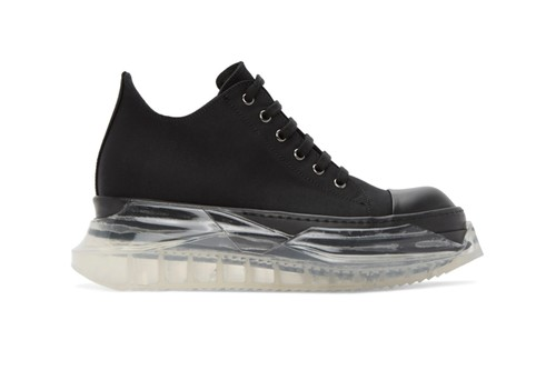 Rick Owens DRKSHDW's Abstract Sneakers Features a Chunky Transparent Outsole