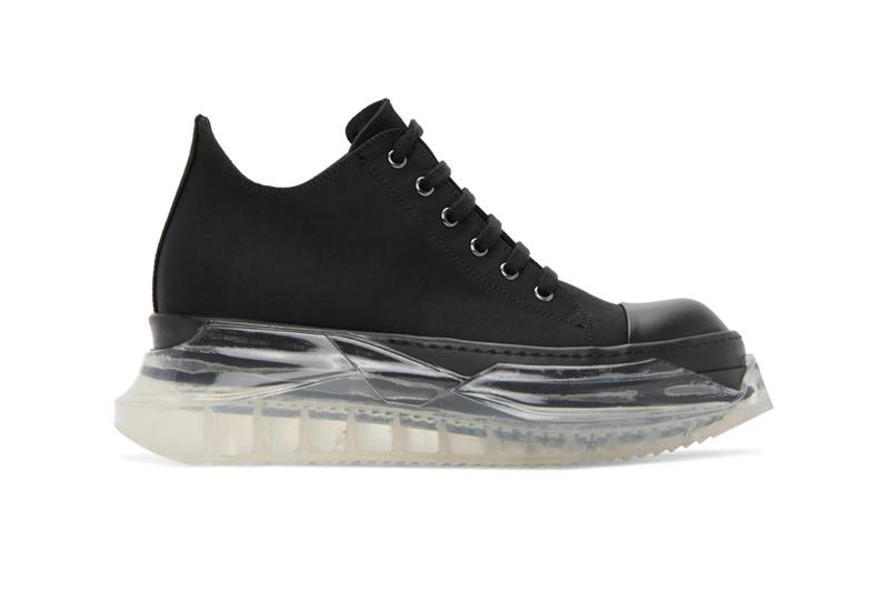 Rick Owens DRKSHDW Abstract Sneakers Release Black White Info Buy Price SSENSE