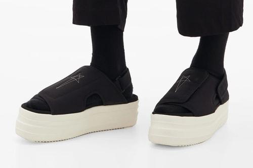 Rick Owens DRKSHDW Unveils Stacked Double Bumper Canvas Sandals