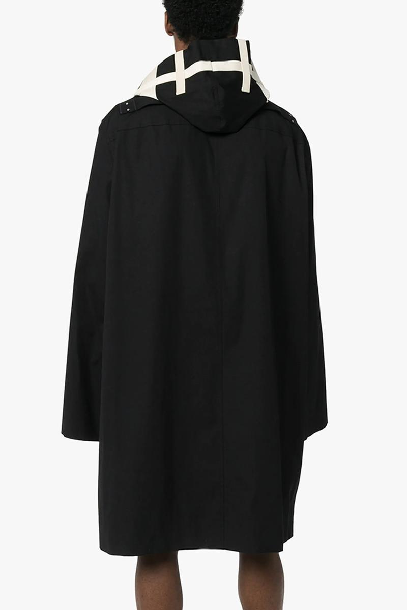 Rick Owens Pyramid Applique Hooded Parka menswear streetwear spring summer 2020 collection runway black white monochromatic jackets coats embroidery geometric designer