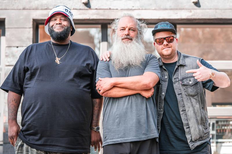 Rick Rubin Run The Jewels Broken Record Podcast el p killer mike rapper producer hip hop songs jazz piano sample conversation interview discussion chat RTJ1 2 3 4 albums lps