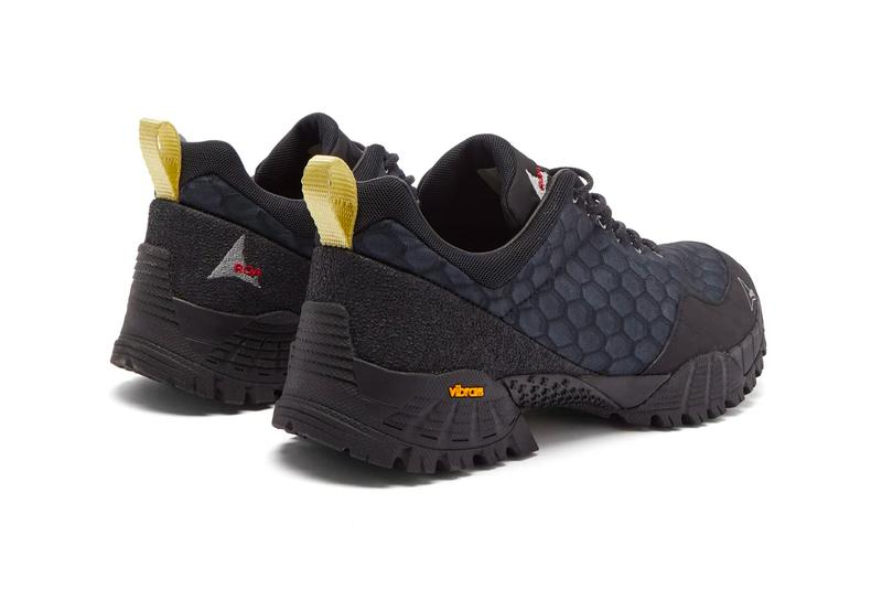 ROA Oblique Mesh Trail Sneakers White Navy Honeycomb vibram megagrip outsole menswear streetwear sneakers shoes footwear trainers runners kicks trail trek spring summer 2020 collection