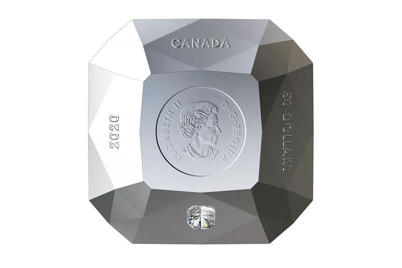 Royal Canadian Mint Diamond-Shaped Forevermark Coin diamonds ontario Crossworks Manufacturing Victor Mine collectibles