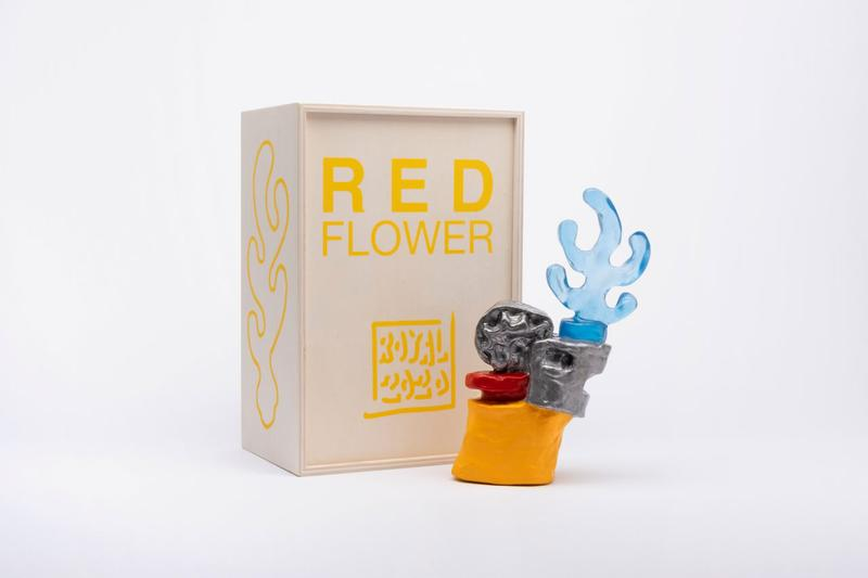 royal jarmon red flower case studyo edition artworks sculptures