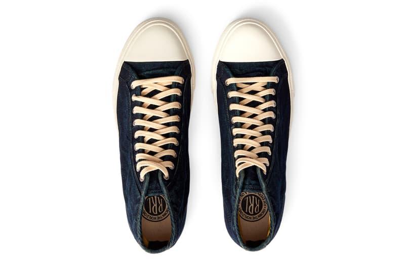 RRL Indigo-Dyed Mayport Trainers shoes New York UK Dyed RRL Double RL Americana denim Workwear