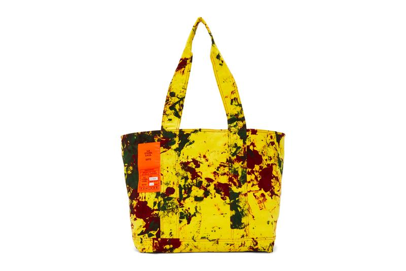 S.R. STUDIO. LA. CA. SOTO Hand-Dyed Laundry Tote Release Sterling Ruby Yellow Info Buy Price SSENSE