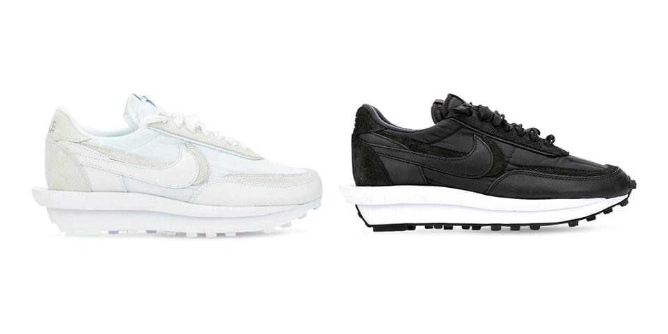 Sacai X Nike Ldv Waffle White Nylon Black Nylon Release Date Hypebeast