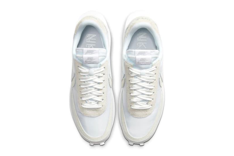 sacai Nike LDV Waffle White Nylon Black Nylon Official Look Release Info Date Buy Price