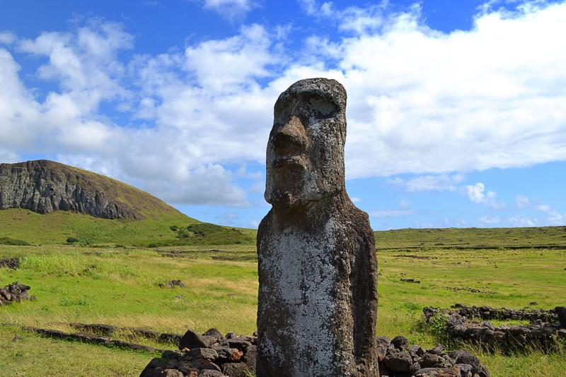 sacred easter island sculpture destroyed by pickup truck