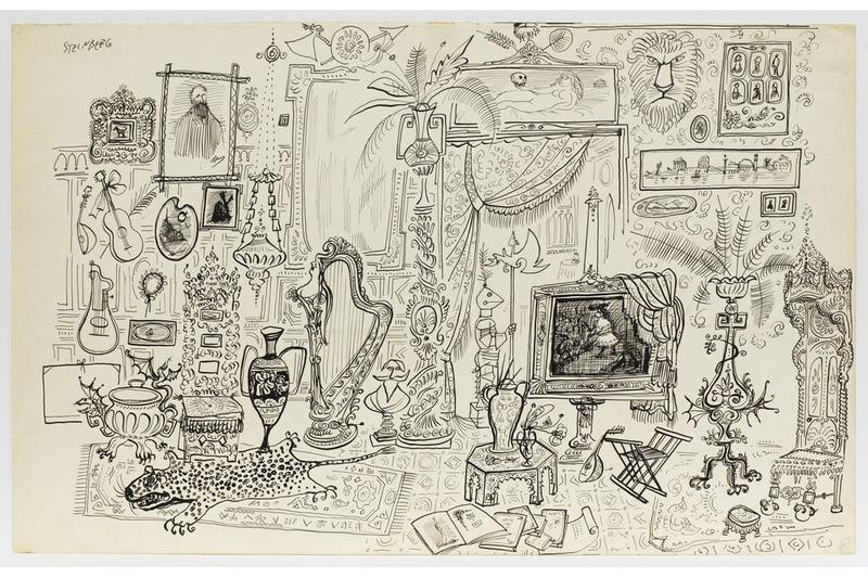 saul steinberg imagined interiors exhibition pace gallery
