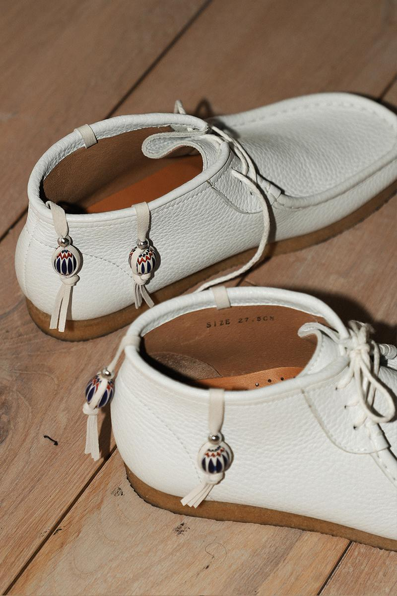 Sillage Stocknumber Glass Beads Leather Moccasins mocs boots shoes footwear menswear sneakers Fukuoka Japan yuthanan spring summer 2020 collection bangkok handpainted