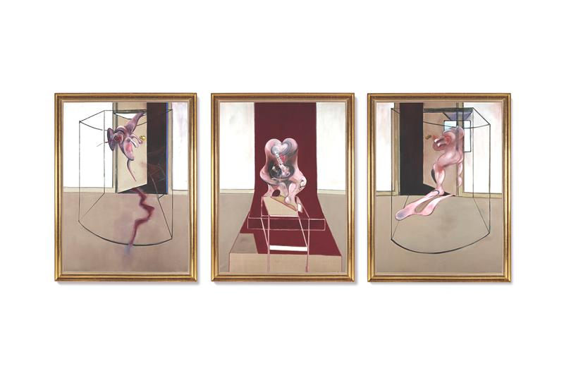 sothebys new york francis bacon british contemporary artist 60 million usd triptych auction painting art greek tragedy