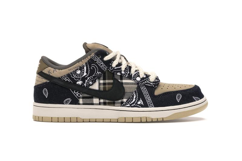 travis scott giveaway plaid bandana dunk low sneakers giveaway one dollar 1 resell win