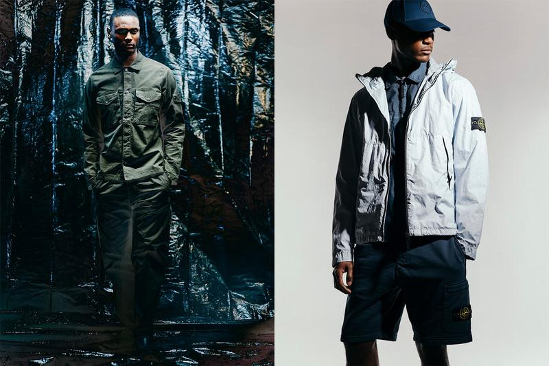 Stone Island SS20 Takes Center Stage in HAVEN Editorial spring/summer 2020 sportswear technical apparel techwear liquid reflective lookbook metallic nylon metal