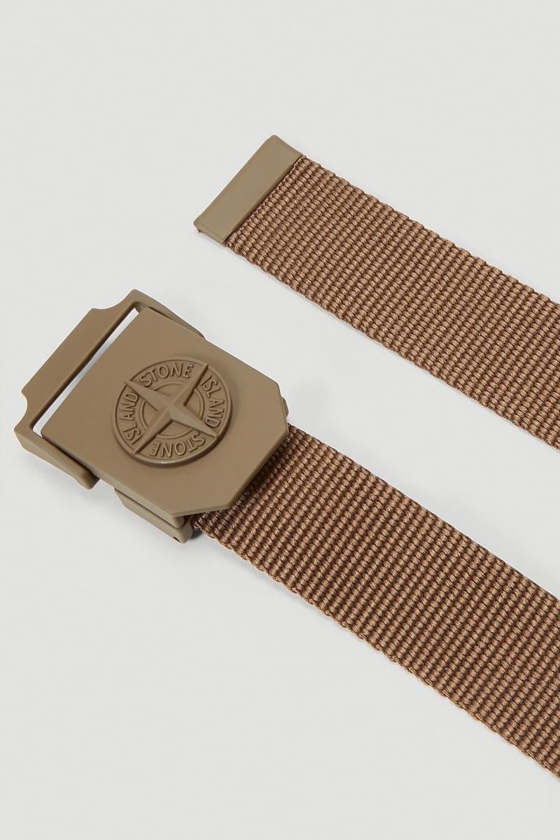 Stone Island Compass Woven Logo Belt Release  LN-CC accessories fashion belts stoney Stone Island Compass