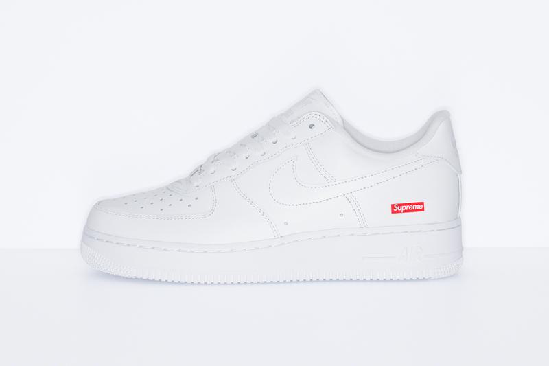 supreme nike air force 1 box logo black white release date info photos price CU9225 100 001 bogo uptowns significance importance carlyle